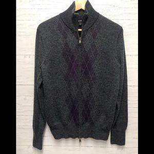 Banana republic men's argyle merino wool sweater
